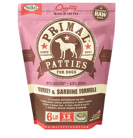 PRIMAL PET FOODS, INC. Primal Patties for Dogs Turkey 6lb