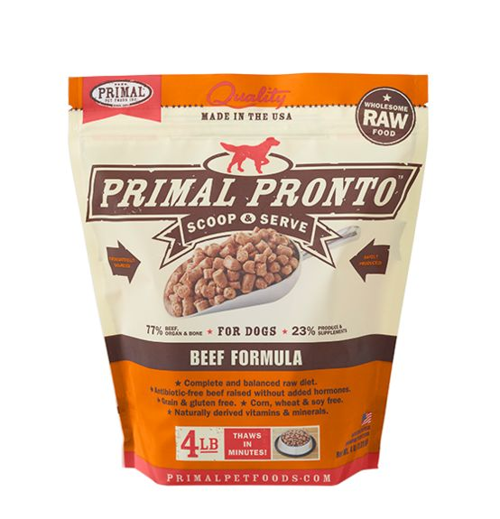 PRIMAL PET FOODS, INC. Primal Pronto for Dogs Beef 4lb