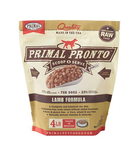 PRIMAL PET FOODS, INC. Primal Pronto for Dogs Lamb 4lb
