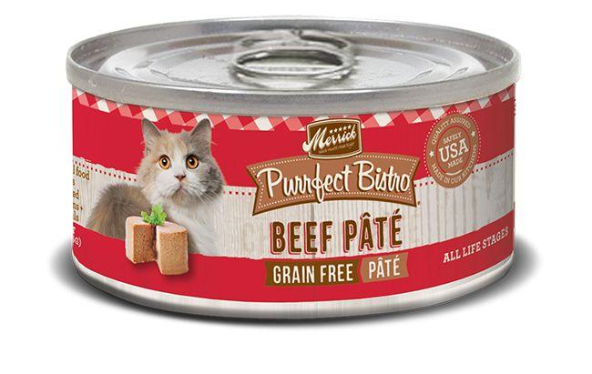 Merrick Merrick Purrfect Bistro Beef Pate 5.5oz Grain Free Canned Cat Food