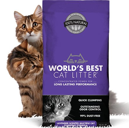 WORLDS BEST CAT LITTER World's Best Clumping Litter Multi Cat Lavender 14lb