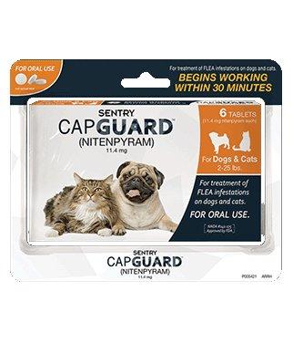 SERGEANT'S PET SPECIALTY Capguard Tab Dog or Cat 2-25lb-6ct