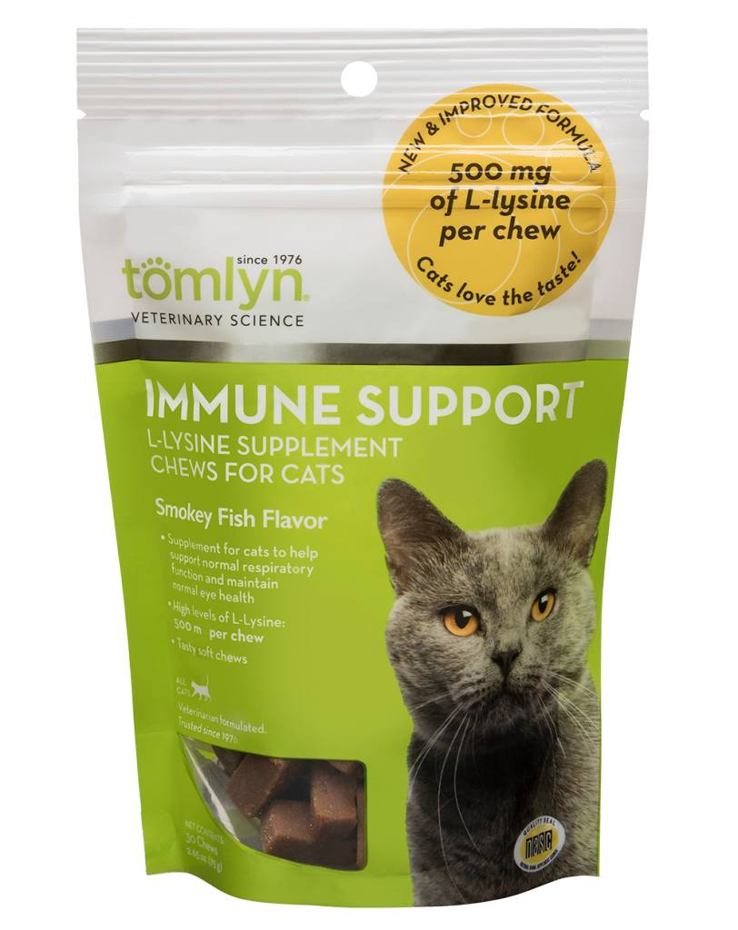 TOMLYN PRODUCTS L-Lysine Immune Support Chew for Cats 30ct