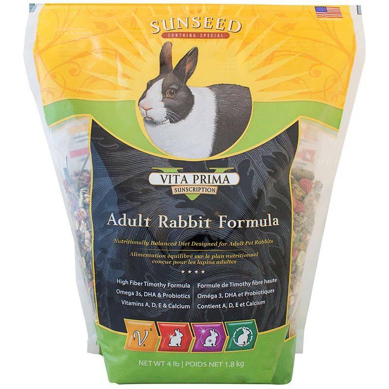 SUNSEED COMPANY Sunseed Vita Prima Sunscription Adult Rabbit Formula 4LB