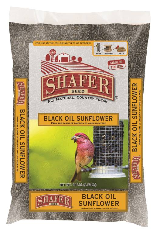 SHAFER SEED COMPANY Shafer 100% Black Oil Sunflower Seed 40lb