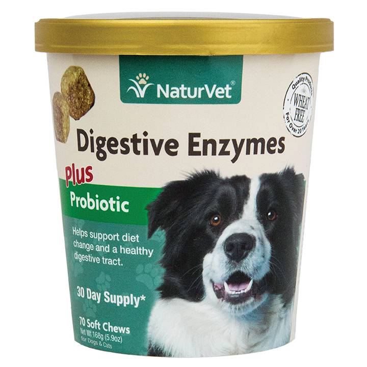 NaturVet NaturVet Digestive Enzymes Soft Chew with Probiotics 120ct