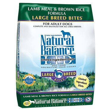 NATURAL BALANCE .I.D. Limited Ingredient Diets Lamb Meal & Brown Rice Large Breed Bites Dry Dog Formula 28lb