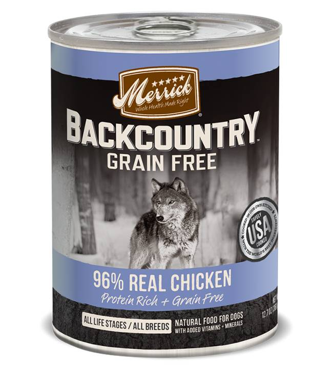 Merrick Merrick Backcountry 96% Real Chicken-Dog 12.7oz
