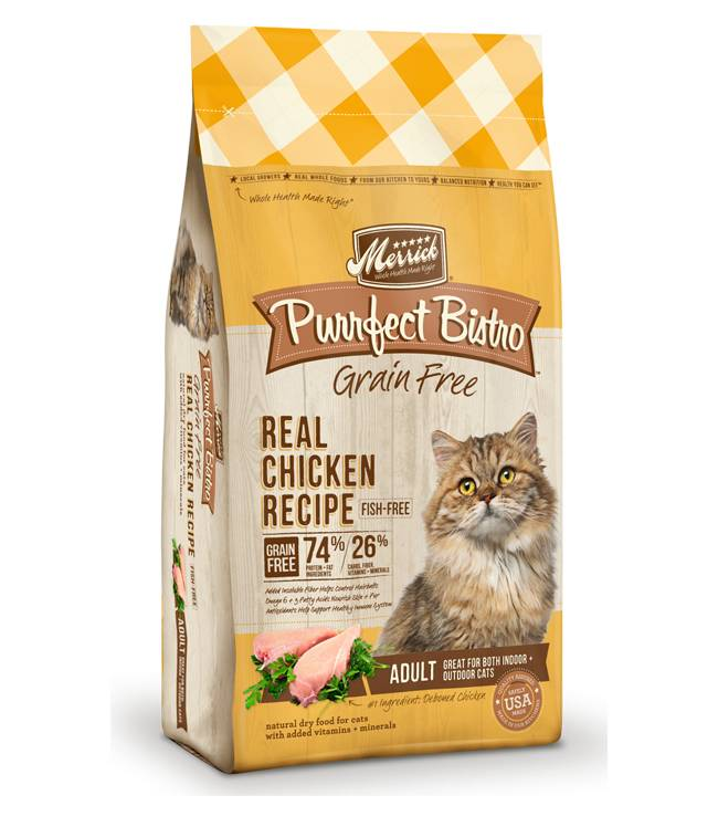 Merrick Merrick Purrfect Bistro Grain Free Real Chicken 4lb Dry Cat Food