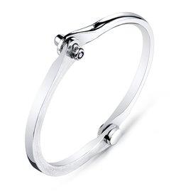 Men's Onyx Silver Handcuff