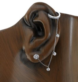 Diamond Chain Earcuff