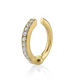 Yellow Gold Diamond Handcuff Ear Cuff