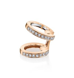 Rose Gold, Pave Diamond Double Ear Cuff