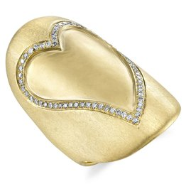 Diamond Heart Shield Ring