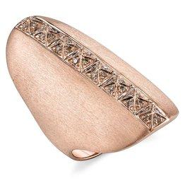 Brown Diamond Pyramid Shield Ring