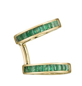 Emerald Baguette Double  Ear Cuff