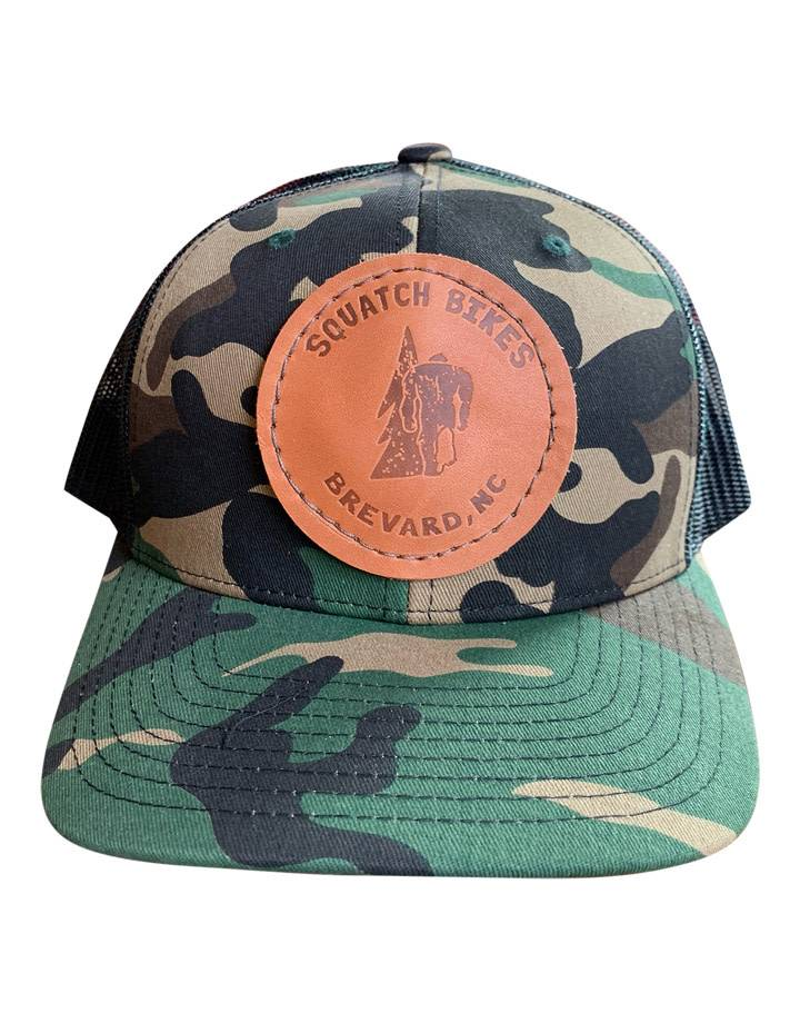 Squatch Brand Squatch Leather Patch Logo Hat