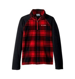 Columbia Glacial™ III Fleece Printed Half Zip Red Spark Check