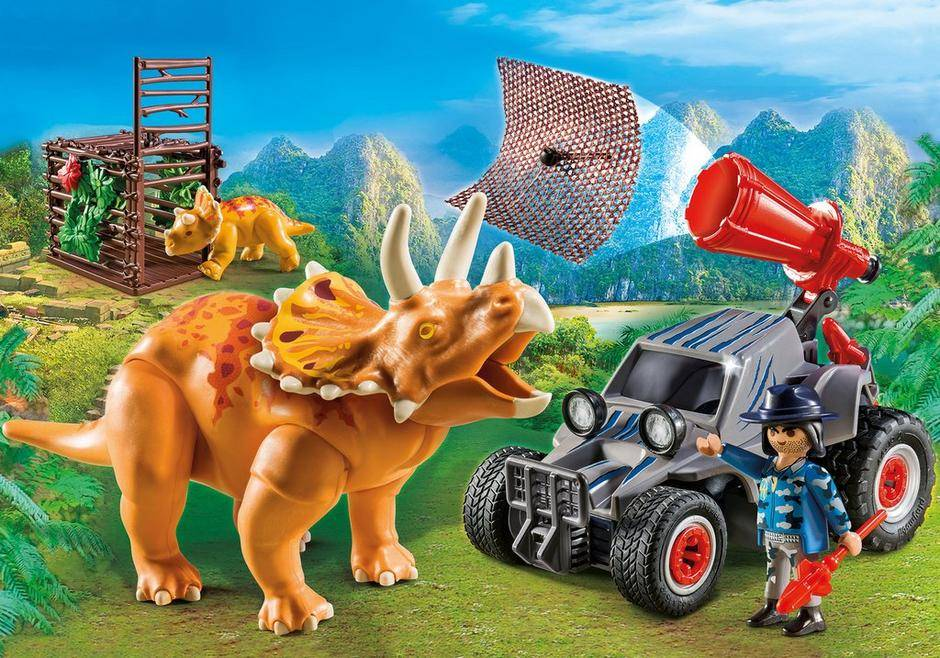 Playmobil Enemy Quad with Triceratops
