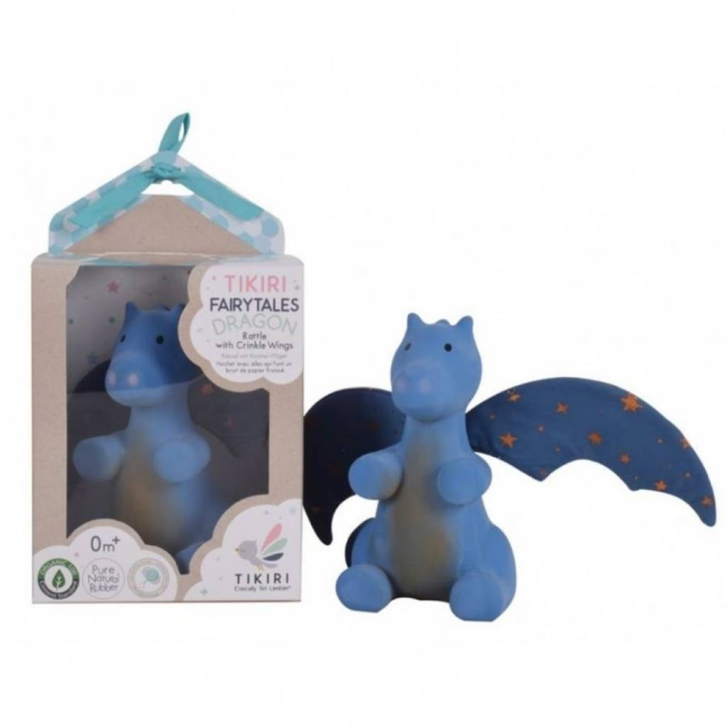 Tikiri Fairtales Dragon Rattle with Crinkle Wings