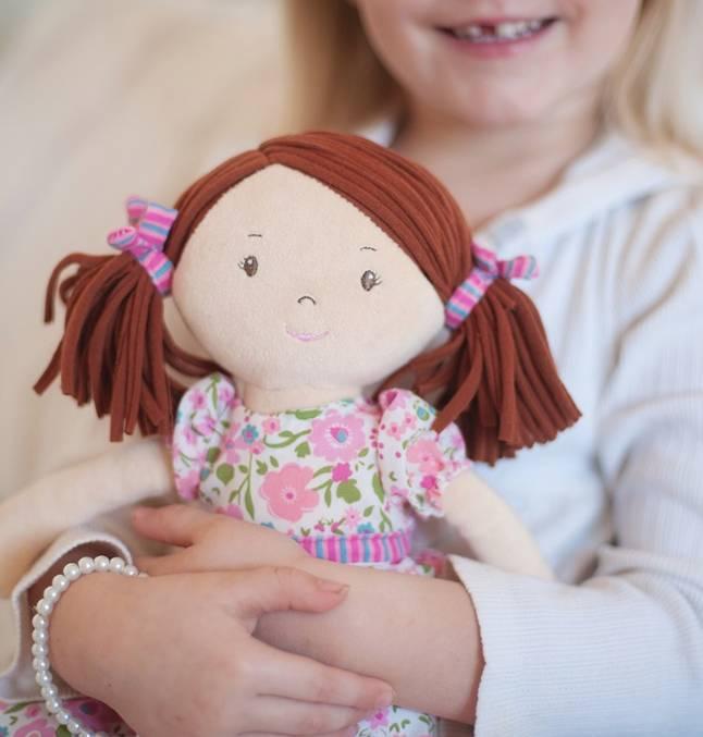 Bonikka Katy - Dk Brown hair with pink & green