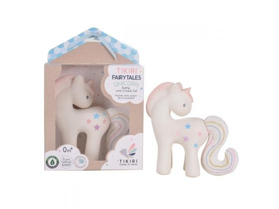 Tikiri Fairytales Unicorn Rattle with Crinkle Tail