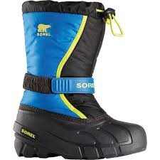 Sorel Youth Flurry- Black, Super Blue