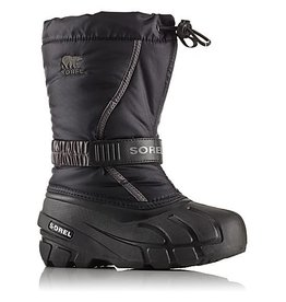 Sorel Youth Flurry- Black, City Grey