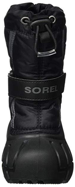 Sorel Youth Flurry- Black, City Grey