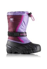 Sorel Youth Flurry- Purple Dahlia, Paisley Purple