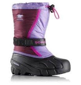 Sorel Youth Flurry- Purple Dahlia, Paisley Purple