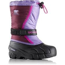 Sorel Children Flurry - Purple Dahlia, Paisley Purple