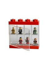 Lego Minifigure Display Case 8 Red
