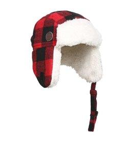 Kombi The Hip Aviator Hat - Infants Red Buffalo Plaid