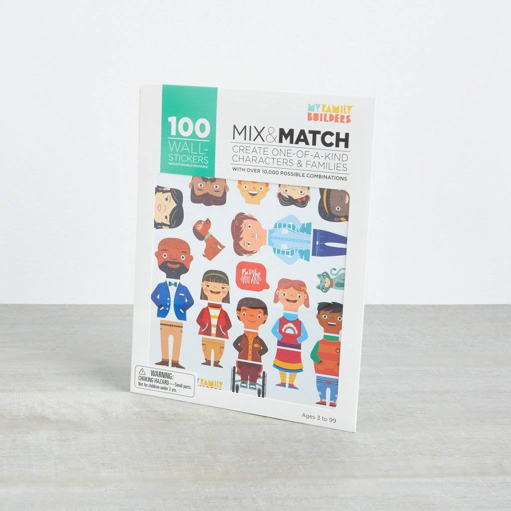 My Family Builders Mix & Match  100 Wall Stickers