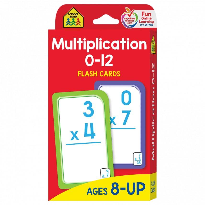 School Zone Publishing Company Multiplication 0-12 Flash Cards