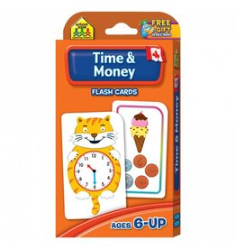 School Zone Publishing Company Canadian Time & Money Flash Cards