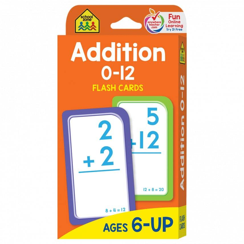 School Zone Publishing Company Addition Flash Cards