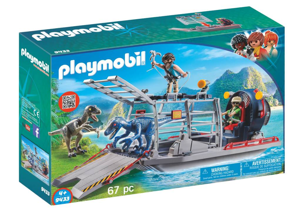 Playmobil Enemy Airboat with Raptors 9433