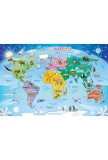 Cobble Hill World Map Tray Puzzle