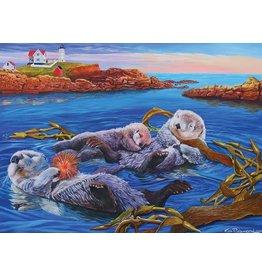 Cobble Hill Sea Otter Family  350pc Puzzle