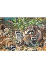 Cobble Hill Raccoon Family 350pc Puzzle