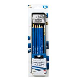 Royal Langnickel Mini Tin - Watercolor Pencil & Brush