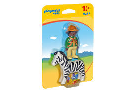 Playmobil Ranger with Zebra