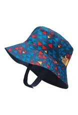 The North Face Baby Sun Bucket Hat Shady Blue Mini Triangle Print OS