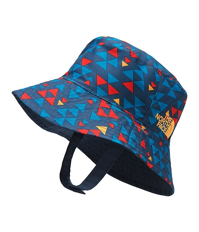 288758594e78b4 The North Face Baby Sun Bucket Hat Shady Blue Mini Triangle Print OS ...