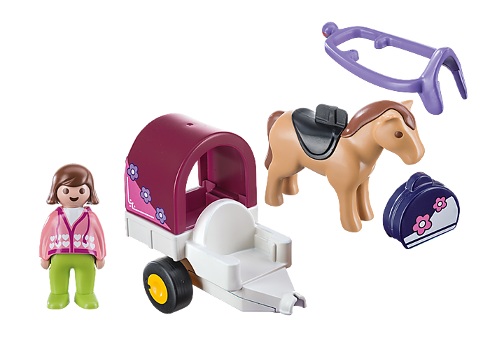 Playmobil Horse-Drawn Carriage (1-2-3)