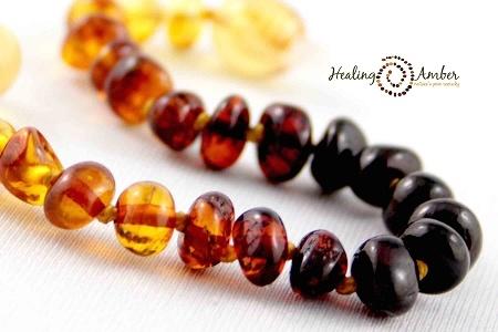 Healing Amber Rainbow Circle 15 Inch