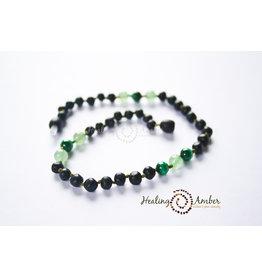 Healing Amber Raw Molasses & Green Aventurine/Malachite 11 Inch