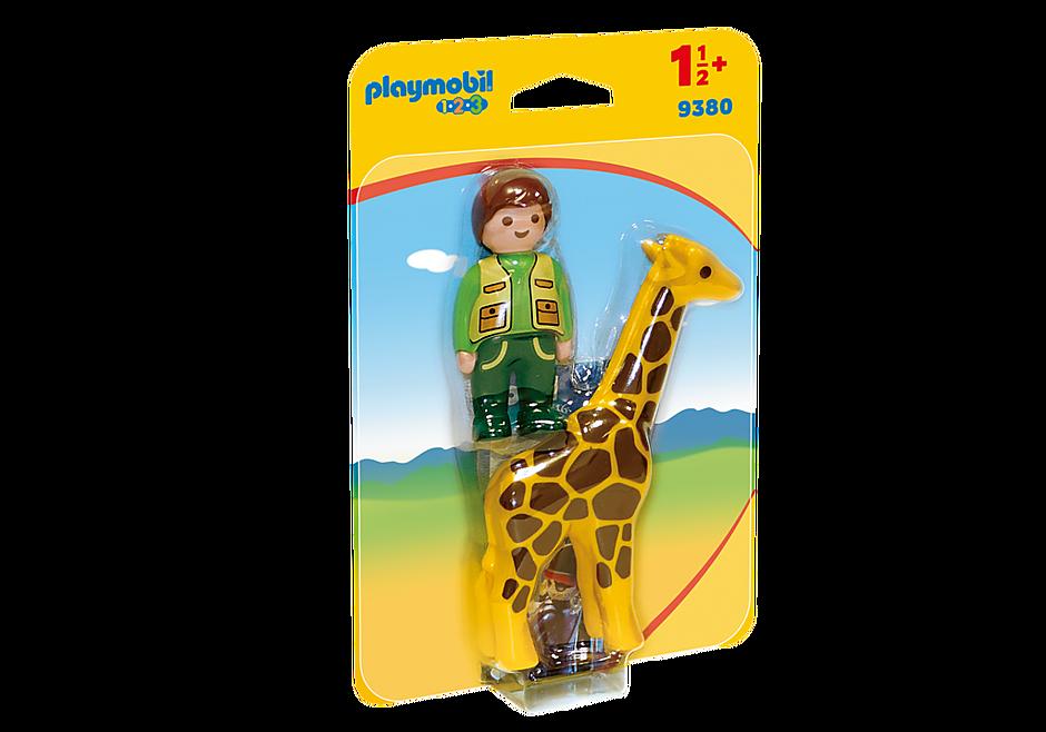 Playmobil 1.2.3 Zookeeper with Giraffe